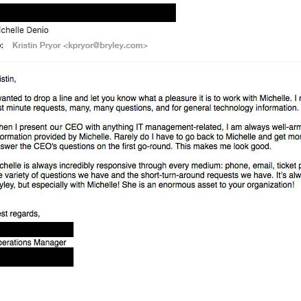 email Michelle